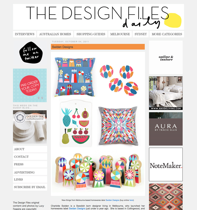 Swiden Design On The Design Files