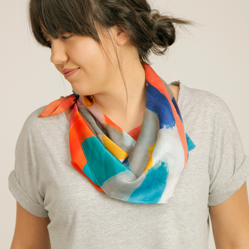 Majbritt 'Mod' Silk Scarf