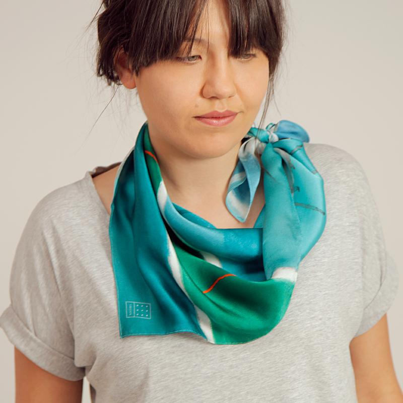 Majbritt 'Ocean' Silk Scarf