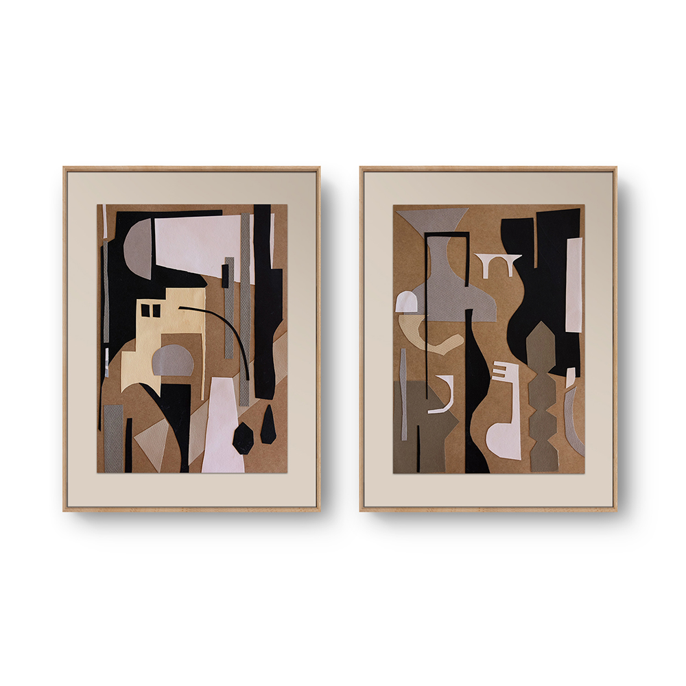 Paper Collages 'A Home' X 2